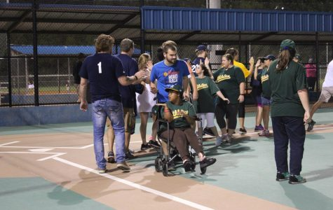 The National Honors Society Pitches in with special needs baseball players