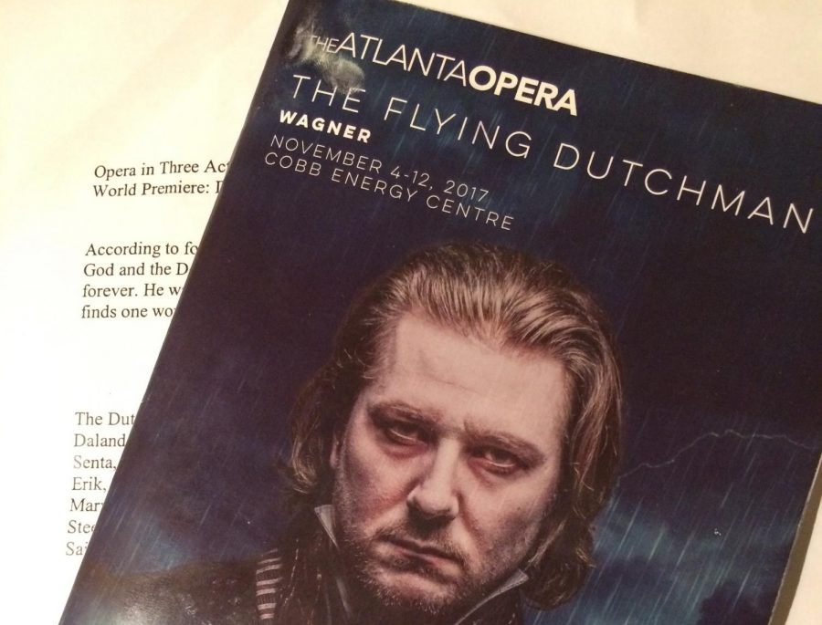 Attendees received programs describing the production and crediting its participants. The Opera also provided sheets describing the history and plot of The Flying Dutchman to viewers who attended a pre-opera talk before the show.