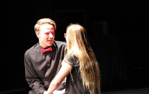 "As the acts progressed, senior Jordan Hicks and junior Isabella Keaton's love story brewed. Their love story comes to an end when they sing a duet and share their true feelings. They close the show with ""Only Us"" from the broadway musical Dear Evan Hansen."