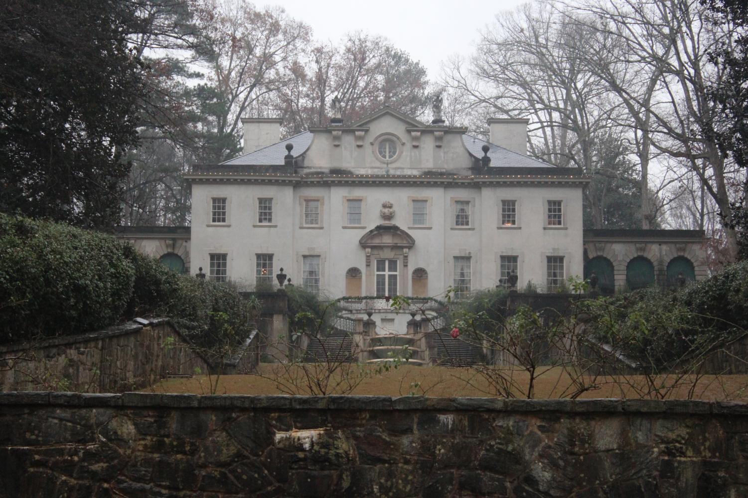 Surrounded by 22 acres of land, The Swan House, used as President Snow's house in The Hunger Games MockingJay Pt.1, originally opened to the public in 1967.