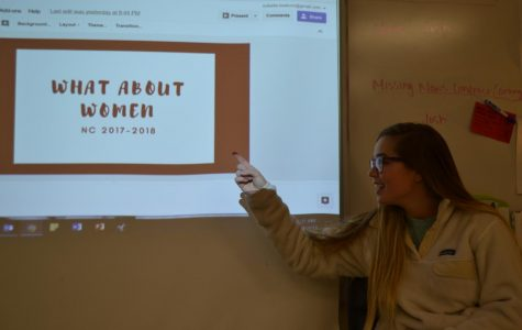 """Juniors Isabella Keaton and Tara Anastasoff hosted the first meeting of What about Women? club, on January 24, where they discussed how to get feminine hygiene dispensers placed in the girl's bathrooms at NC. 13 girls attended the first meeting and participated in a bonding activity to kickstart the beginning of the club. """"(We are just) throwing everything out into the open. Within the next few meetings, we'll fine tune our plans and have a day where we research and plan a fundraiser,"""" Anastasoff said."""
