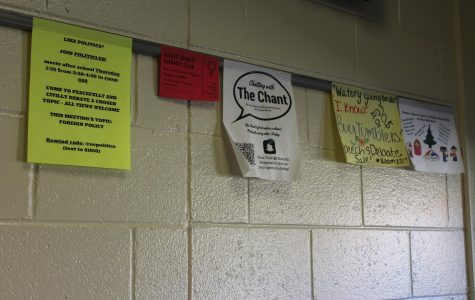 Administration recently issued a ban on flyers taped to the wall, installing hanging strips for clubs to promote themselves. With over 50 clubs at NC that advertise through flyers, colored paper and fallen poster clutter the halls and create additional work for janitors. The ban will reduce litter and neatly organize the signs for students, providing more easily accessible information.