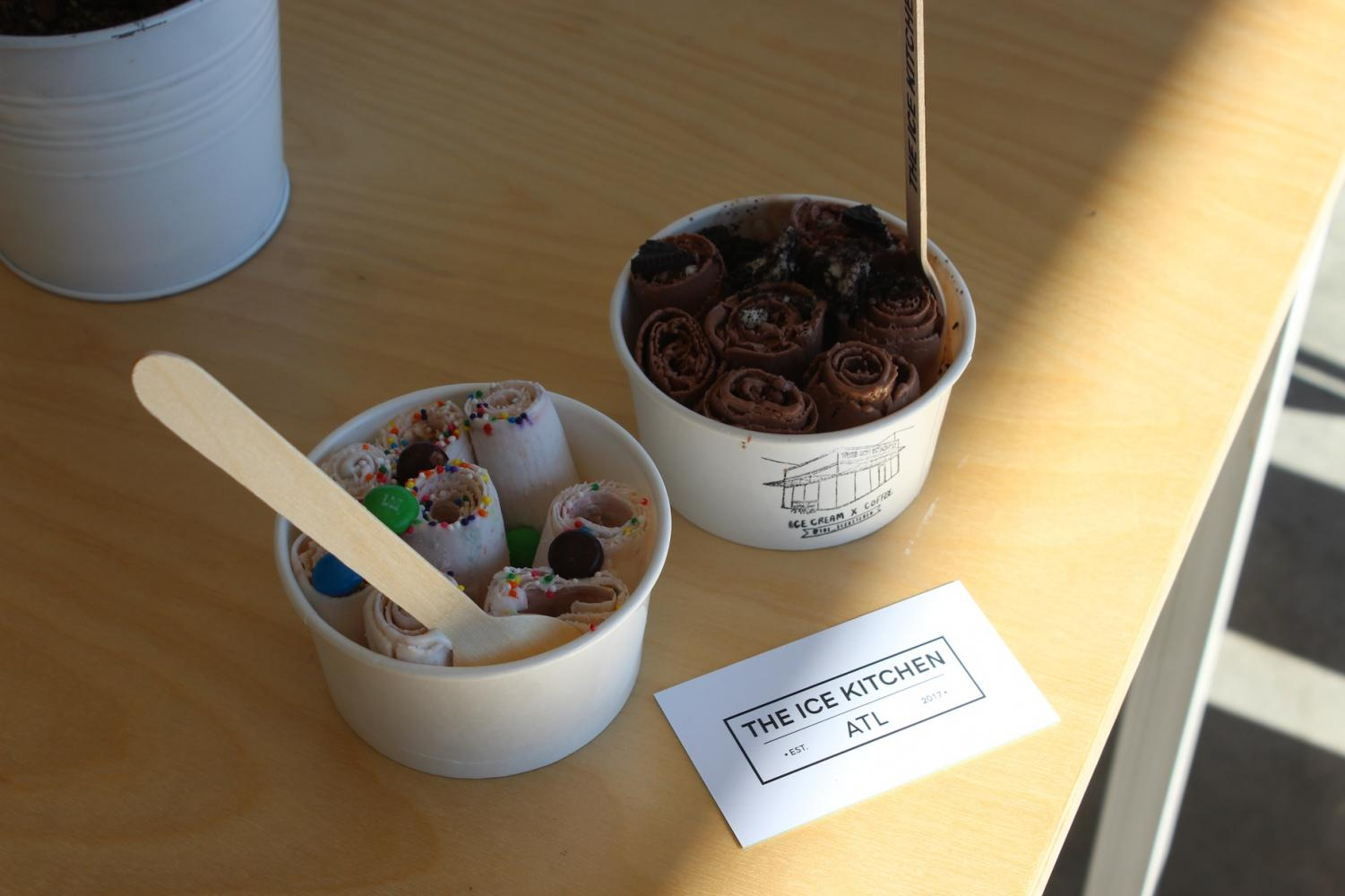 The Ice Kitchen brought an aesthetic and tasty spot to the Kennesaw area, offering sweet rolled ice cream and other refreshing treats.