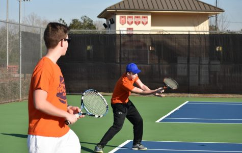 The JV boys tennis team will to continue to attend practices and improve this spring season.