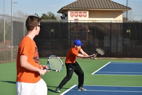JV boys tennis team swings into the season