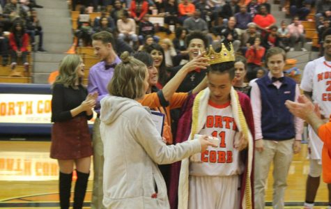 Senior Ginji Ozawa received the title through popular vote of the senior class for the 2017-2018 school year's Hoopcoming King.