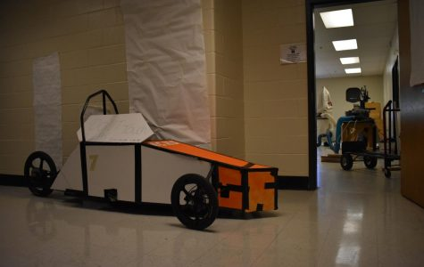 """NC's civil engineering club built a battery-powered race go-kart to compete in the 6th annual Formula South Invitational tomorrow morning. NC teacher and club advisor Adam Cogbill said, """"We're excited for the competition, even though we ran into some trouble getting our car to work."""" Held at Kennesaw State University's Marietta campus, competitors will race their electric go-karts, showcasing the skills of their engineering teams in addition to raising money for the Robert Glenn Allen Scholarship Foundation."""