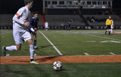 NC varsity soccer faces off against Marietta Blue Devils