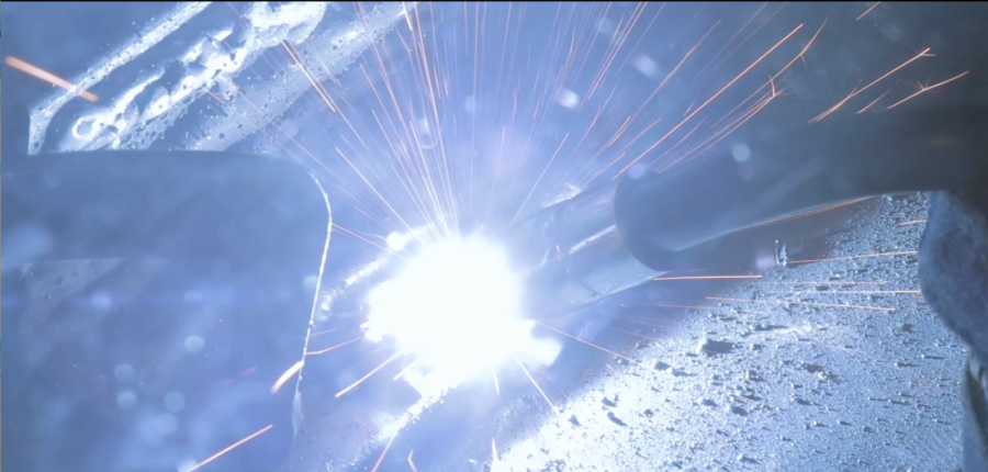 SkillsUSA offers trade-based competitions for students to gain experience in careers they want to pursue later on in life. The welding competitions requires the student to weld pieces of metal together into an artistic mold.