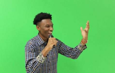 The rumor mill keeps churning, as whispers swirl of a talent scout at NC searching for the next Beyonce. Students around the school excitedly prepare for auditions, utilizing the new theatre and audio/video broadcasting rooms as practice space. Junior Zion Fitch rehearses his audition for his peers.