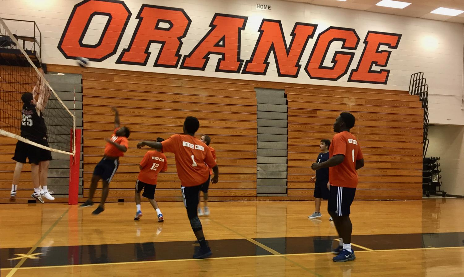 The men's volleyball team passes into their second season, feeling excited and ready to face what challenges may come. The team continues to practice and win games, preparing them for the state playoffs on May 6.
