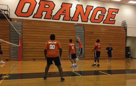 Senior Turner Markwalter made an amazing backset, setting up Shiv Pandya for the winning point. This play occurred during the first set of NC orange team's first game, and started a 4 point streak.