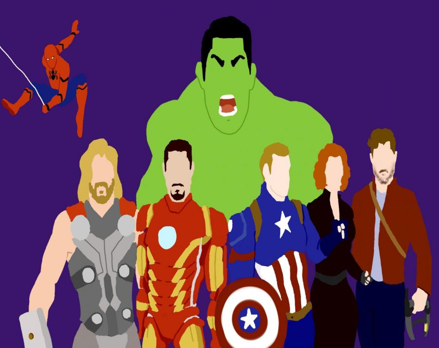 Sophomore art and Marvel officionado Grace Olowojesiku reimagines the essential Avengers.
