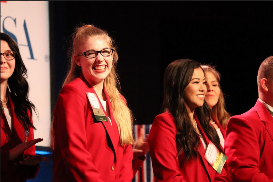 "LaPierre soaks up all of the excitement that comes from becoming the second ever person in Cobb County to earn one of the state officer positions in SkillsUSA Georgia. ""I worked so hard for this, I'm glad it all paid off in the end,"" LaPierre said."