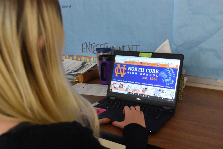 """The new school year at NC brought significant changes, including a modernized school website. Instead of the ordinary site that students grew accustomed to, people scrolling on www.northcobbhigh.org will now see athletes and students showcased on a slide of pictures, categories of the classes, staff, and departments, and will find it easy to navigate on the site. """"I love that our school changed the website to look more appealing and attractive to those who browse on there. I feel it will really show what 'Warrior Nation' is all about,"""" senior Anna Vickery said. Scroll through the new website today to see a more organized and fresh platform of NC."""