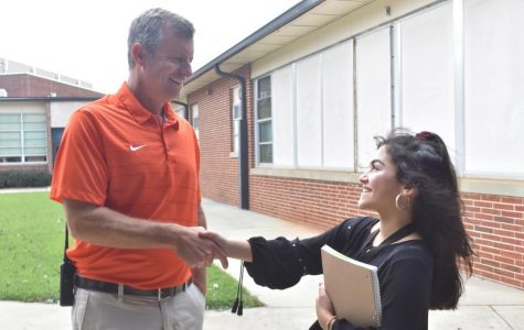 Moody puts students in a good mood for the new school year
