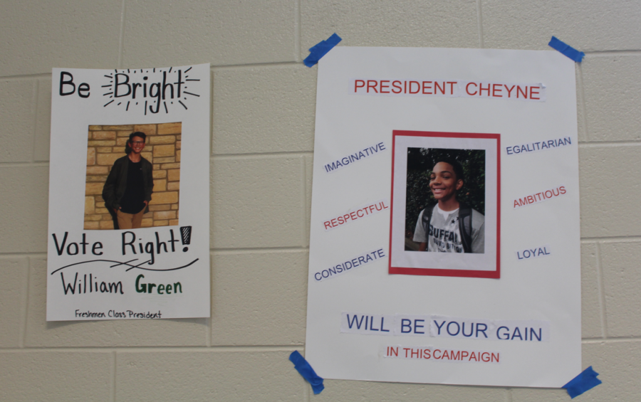The freshman class of 2022 gets ready to cast their ballots for the positions of Class President, Vice President, Secretary, and Treasurer. The freshmen will vote for their class leaders on Wednesday, September 12 in homeroom. Advertisements posted by hopeful candidates in the race decorate the Freshman Academy.