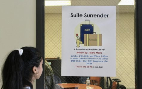 "NC's Standing Ovation will present two shows of the comedic play, Suite Surrender, on October 24 and 25 at 7 p.m. The show will take place at NC's new Performance Art Center for only $5 at the door. ""I'm so excited for this performance because we worked really hard on it. The set turned out beautiful and the actors are hilarious. This is definitely my favorite show yet,"" tech crew member Niara Minnifeld said."
