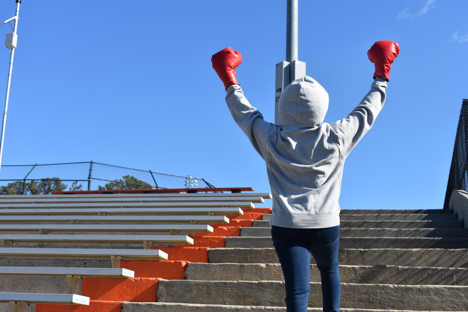 Mimicking the famous Rocky Balboa pose, he reminds viewers to never give up and keep striving to achieve their dreams no matter the obstacles they face. Adonis Creed inspires the future generations of boxing and continues to leave an impact on the boxing world. Together in Creed II Rocky works to train Adonis to commemorating his old days back in the ring.