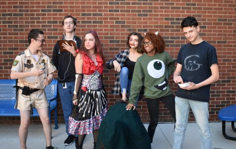 "Students dressed up in their Halloween costumes today to celebrate the holiday. Most of these costumes consisted of fictional characters or occupational extremes, including a gay priest purposefully trying to make a statement. ""I think that senior year is scarier than Halloween,"" senior Katherine Benedict said."