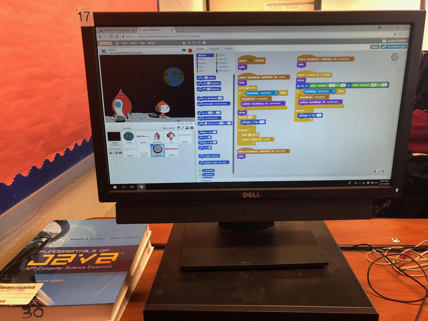 Students utilize free programs such as Scratch to test their Java coding skills.