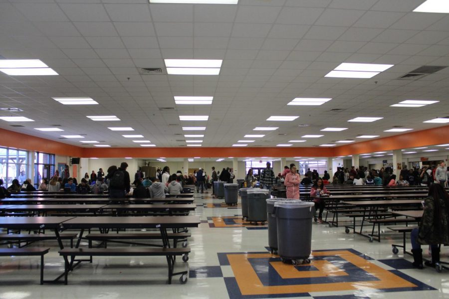 We Dine Together club members are present at every lunch in the main cafeteria, searching for students who sit alone with no other people to talk to. The members make people feel welcomed through inviting them over to eat with them, forming friendships and other exciting connections.