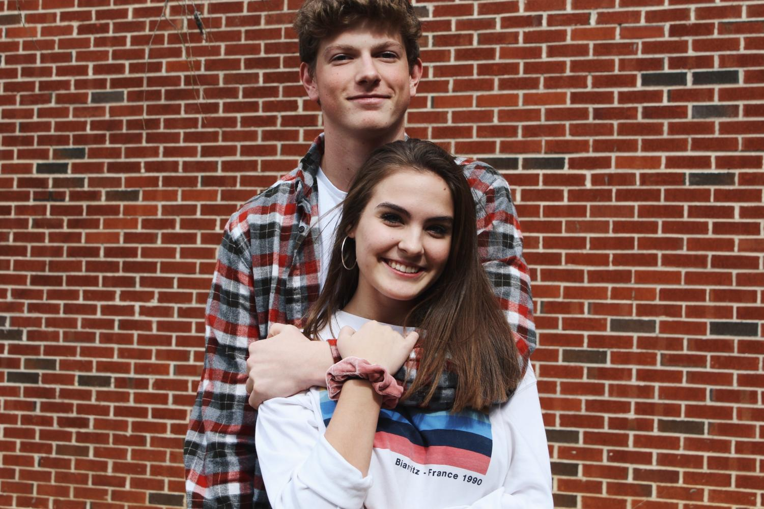 """Sophomores Lillian Southall and Walker Goodsite celebrate Valentine's Day by spending quality time with one another. """"I think Valentine's Day is special because it's the one day per year just based around love for your significant other and the day you mostly realize how lucky you are to be with someone, like Lillian, who is there for you and will be by your side every day. Today's the day you can show the most appreciation for that."""" Goodsite said."""