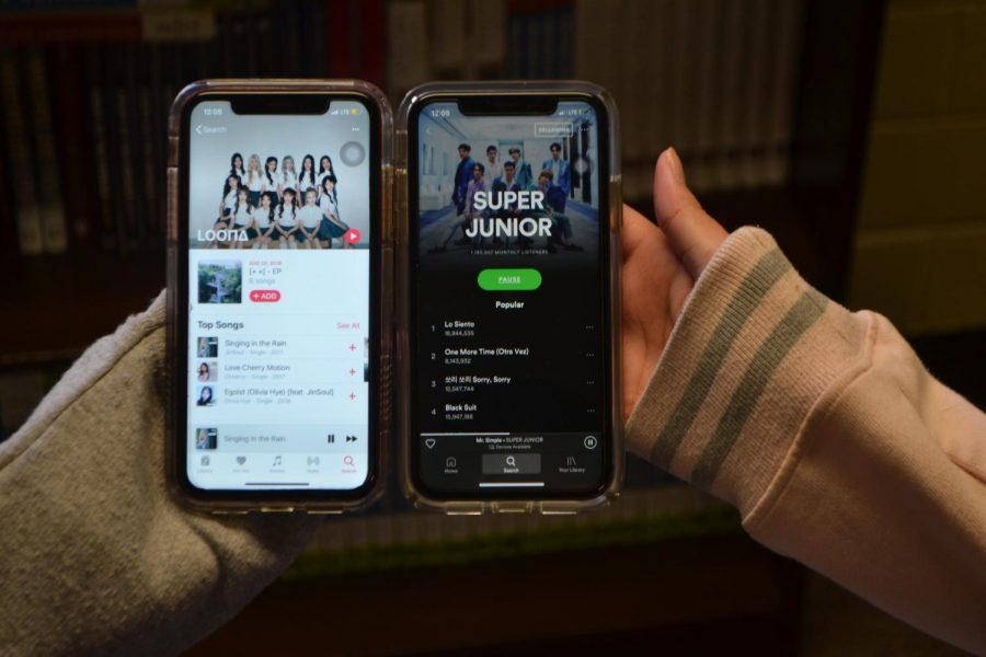 Spotify offers a wide array of undiscovered and up-and-coming artists, especially in the K-pop genre.