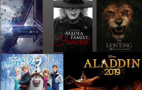 Avengers: Endgame, Frozen 2, Aladdin (live action), The Lion King (live action), and Tyler Perry's a Madea Family Funeral