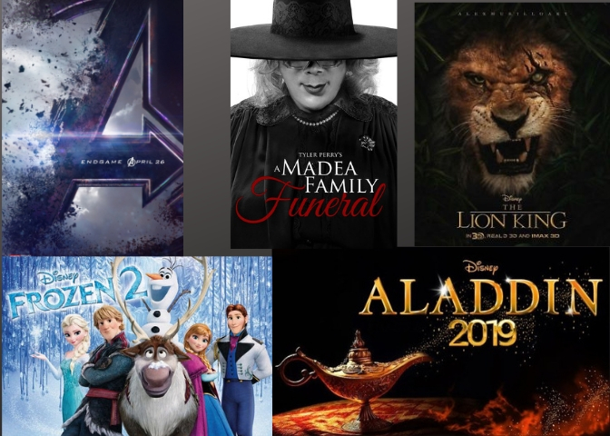 Avengers%3A+Endgame%2C+Frozen+2%2C+Aladdin+%28live+action%29%2C+The+Lion+King+%28live+action%29%2C+and+Tyler+Perry%27s+a+Madea+Family+Funeral