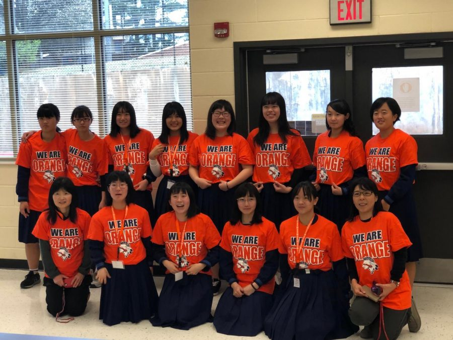 apanese exchange students from Kochi Minami High School visited NC's Japanese language class. Families hosted the exchange students in their homes for one week, showing them around NC and Atlanta. As the exciting week came to a sad end, all students who participated will never forget the everlasting friendships and memories made on the trip.