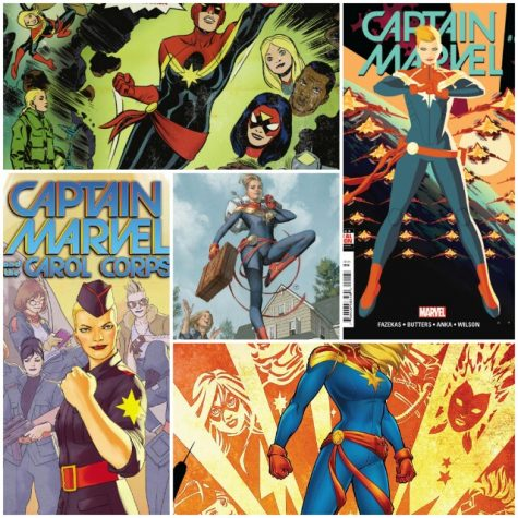 A compilation of various Captain Marvel comics released since the character's growth in popularity. First introduced as a supporting character in 1973, Captain Marvel now finds herself as one of the central members of the Avengers in the comics, as well as Marvel's most prominent female character. The film seems to take inspiration from writer Kelly SueDeconnick's 2012 relaunch on the character (the comics that propelled her to the front of the Marvel Universe, as well as the classic Kree-Skrull War story, wherein the two eponymous alien empires battle for control of the universe, and the Avengers find themselves in the crosshairs.