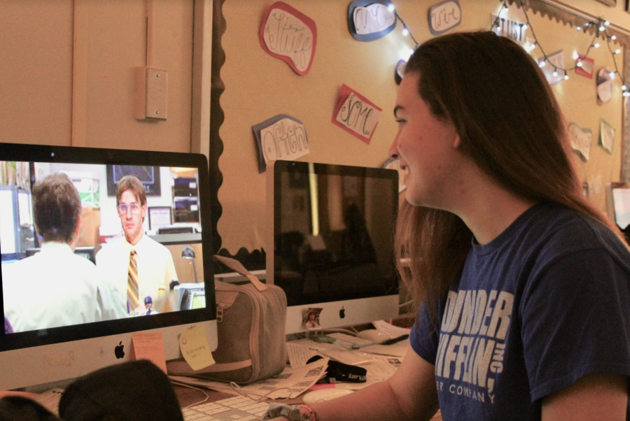 Students enjoy The Office club as they laugh at memes and jokes with fellow peers. The students role play as Dunder Mifflin characters as the club offers a chance for members to meet and share similar interests with their favorite series.