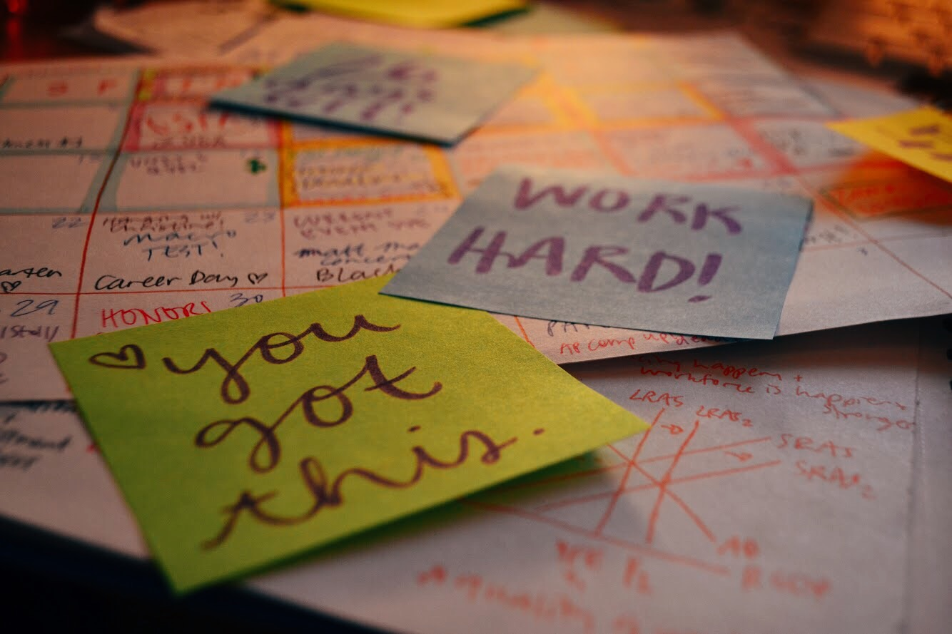 Using sticky notes to make quick to-do lists or offer words of encouragement can make the end of the year slug just a bit more manageable.