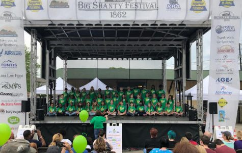 "For over eleven years, the Baker Elementary School chorus sings their way into the hearts of patrons at the Big Shanty Festival. This year, director Fonda Riley directed students on stage as they sang five songs. ""At first, I was a bit scared, well, nervous, and I was honestly excited too because I had a solo. I couldn't wait to perform in front of all those people,"" Baker Elementary fourth-grader Zoë Zavala said."