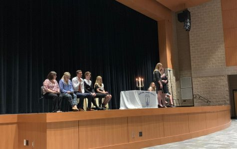 Carrying the ceremony in its entirety, seniors with Tara Anastasoff and Jared Nolen lead the induction ceremony to the National Honors Society as co-presidents. Advisers Nena Tippens and Jennifer Johnson helped the ceremony run smoothly, leaving junior inductees and graduating senior members satisfied with the welcomes and goodbyes.