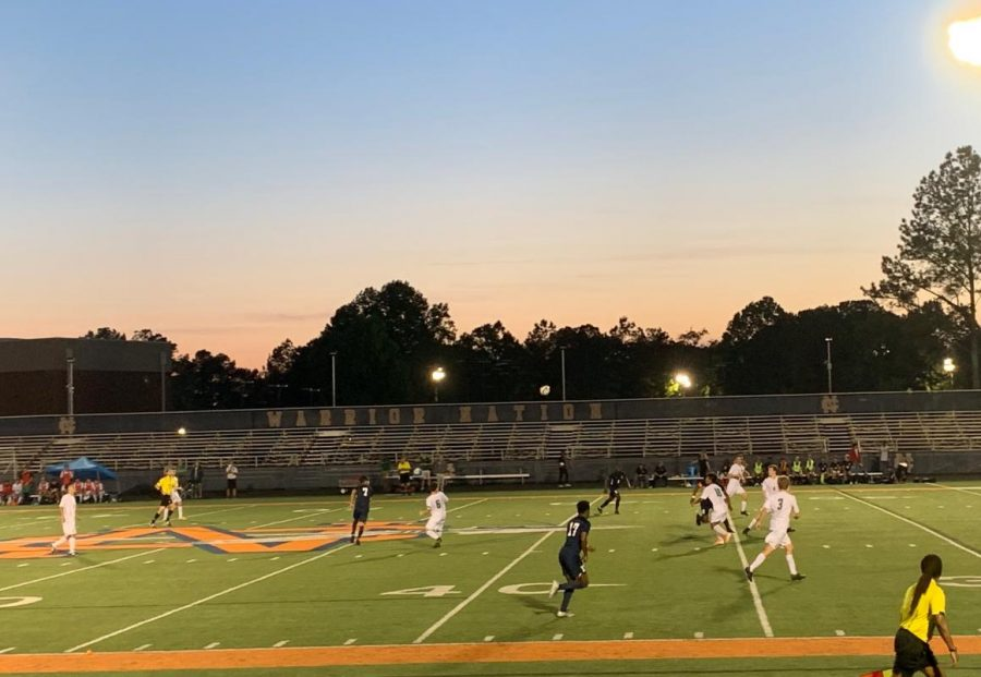 "The NC team struggles to keep up with the strong line of defense on the Hornets' team but gives it all they can for playoffs and for the sake of elongating the spring season. ""I definitely think we'll keep on progressing and do better for next year's season,"" varsity player Blake Dosdos said."