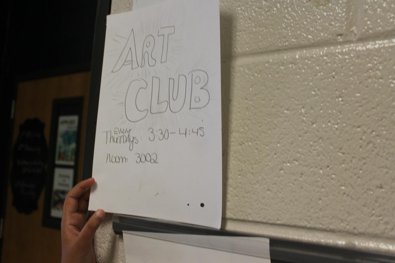 Thursday, September 5, Art Club begins after school in room 3002. The art teacher Ms. Susan Dowling runs the club every Thursday from 3:30 to 4:45 after school. The club invites NC artists to create art using different mediums.