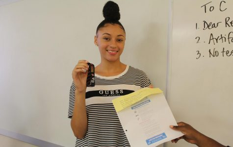 "Winners, Senior Rachel Charleston and Junior Kalana Garner, received the winning wristbands for Music Midtown this upcoming weekend. Garner bought two tickets and paid only $10 for the price of a $150 worth ticket. Garner's winning ticket estimated 1,978 M&M's, and she jokingly wrote ""#Winner!"" on the back of her ticket. To their surprise, their weekend will consist of live music of their favorite artists."