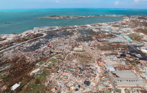 This bird's-eye view of the mass destruction Dorian shows the mass destruction the hurricane is capable of. The damage resulted in destroyed buildings and flooded houses leaving people looking for shelter, food, and water.