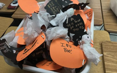 NC's The Chant sells Boo Grams to celebrate the Halloween season and to raise money for the newspaper. Boo Grams will sell during lunch up until October 30 and on Halloween, the newspaper staff will give them out during third block.