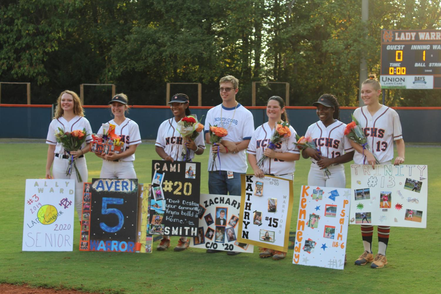 "NC Lady Warriors faced off against the Hillgrove Hawks on their Senior Night Tuesday, October 1, 2019. Though the Warriors walked away with a loss, the defense filled the game with amazing plays, and they will walk into their next game with their heads held high. ""Some of us have been playing together for five or more years and we created lifelong friendships and memories. Sometimes good things shouldn't come to an end,"" NC senior varsity softball player Kathryn Bywaters said."