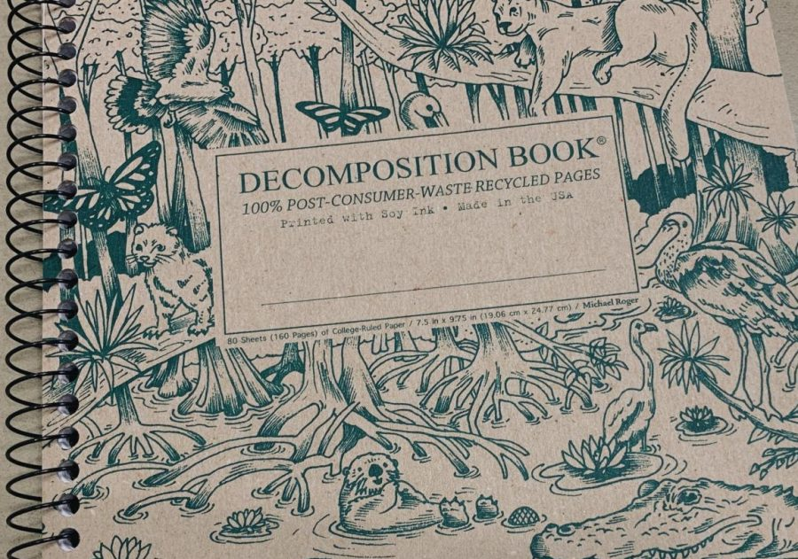 The+Decomposition+notebook%2C+one+of+many+low+waste+alternatives%2C+often+comes+decorated+with+beautiful+art+on+the+cover+and+useful+tools+on+the+inside+covers.+The+notebook%2C+printed+with+soy+ink%2C+creates+a+recyclable+way+to+take+beautiful+notes.+%0A