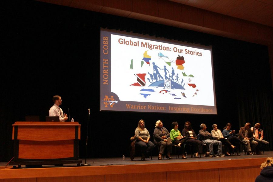 The+panelists+took+their+seats+on+stage+as+the+students+eagerly+sat+down+to+learn+about+their+lives+and+immigration+experiences.+All+of+the+panelists+shared+their+stories+with+the+students%2C+discussing+how+they+became+active+members+in+their+communities.+The+diversity+of+the+group+truly+demonstrated+how+anyone+can+become+a+member+of+the+American+community.
