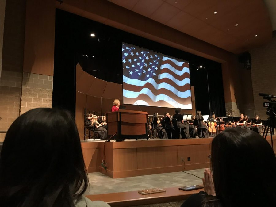 Assistant+Principal+Mary+Goodwin+recites+a+poem+pertaining+to+veterans%2C+making+them+feel+welcomed+at++NC+and+honoring+them+for+their+accomplishments.+NC+students+gathered+in+the+Performing+Arts+Center+%28PAC%29+to+thank+those+who+fought+for+their+freedom+and+rights.+Students+and+faculty+felt+moved+by+the+service+and+in+the+end%2C+everyone+cheered+for+those+who+risk+it+all.