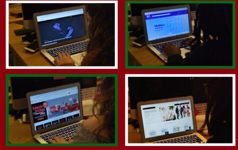 As the Christmas season quickly arrives, Christmas shoppers start making their last-minute runs to the stores. To avoid the nightmare of pushing through crowds and crowds of shoppers, gifters can now do all their shopping completely online. Websites such as GOAT (top left), Best Buy (top right), Overstock (bottom left), and Walmart (bottom right), will help complete that Christmas list the quickest and easiest way possible this holiday season.