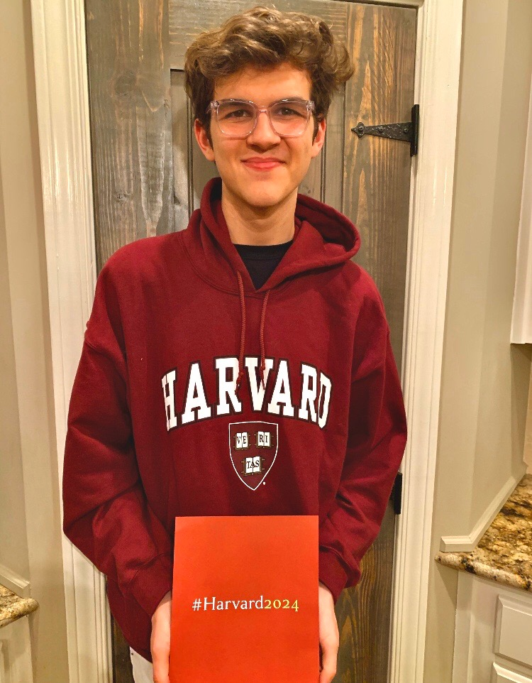 Harvard-bound NC Magnet senior Chandler Quaile opens his acceptance letter to the prestigious school. What seemed just as impossible as getting a letter to Hogwarts, Quaile proved worthy of earning acceptance into his dream school.