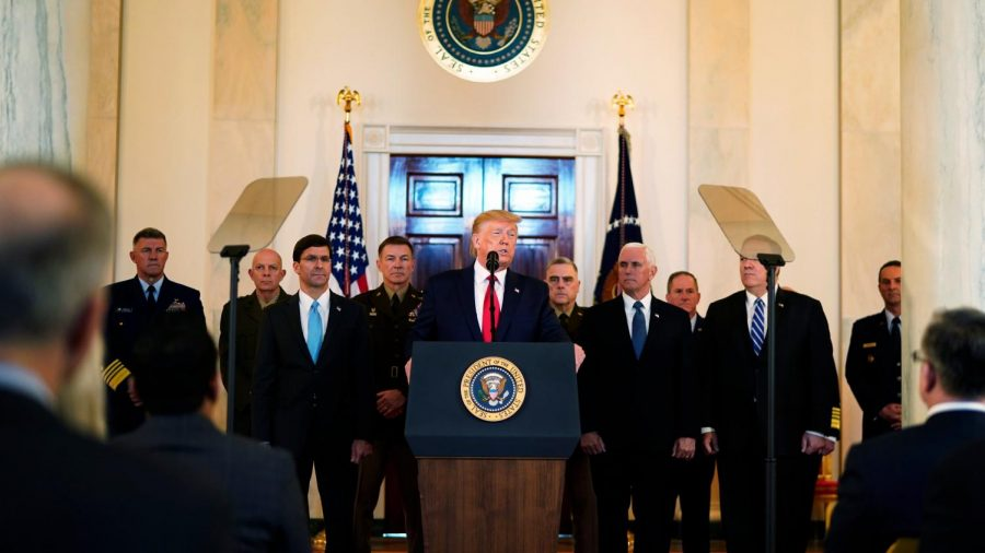 "President Trump speaks about the retaliatory strike ordered by the Iranian military and announces his new strategy to avoid further escalation of conflict. ""The United States is ready to embrace peace with all who seek it,"" Mr. Trump said."