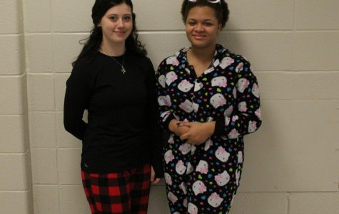 "NC students celebrate their Hoopcoming week as they dressed comfortably against the wet and rainy day in their pajamas . They support their basketball team while feeling comfy. ""Today is pajama day, so I decided to participate. It's just fun because it's nice to be all cozy at school,"" sophomore Lauren Sloan said."