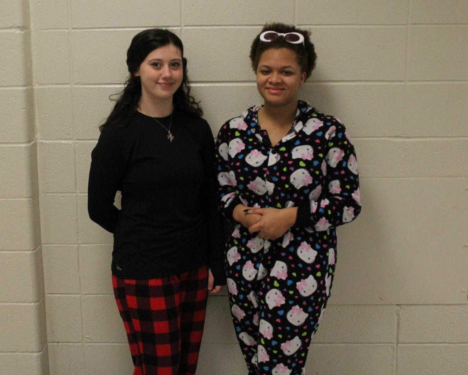 """NC students celebrate their Hoopcoming week as they dressed comfortably against the wet and rainy day in their pajamas . They support their basketball team while feeling comfy. """"Today is pajama day, so I decided to participate. It's just fun because it's nice to be all cozy at school,"""" sophomore Lauren Sloan said."""